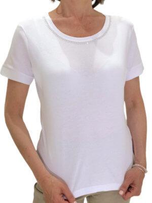 tee shirt perla blanc face