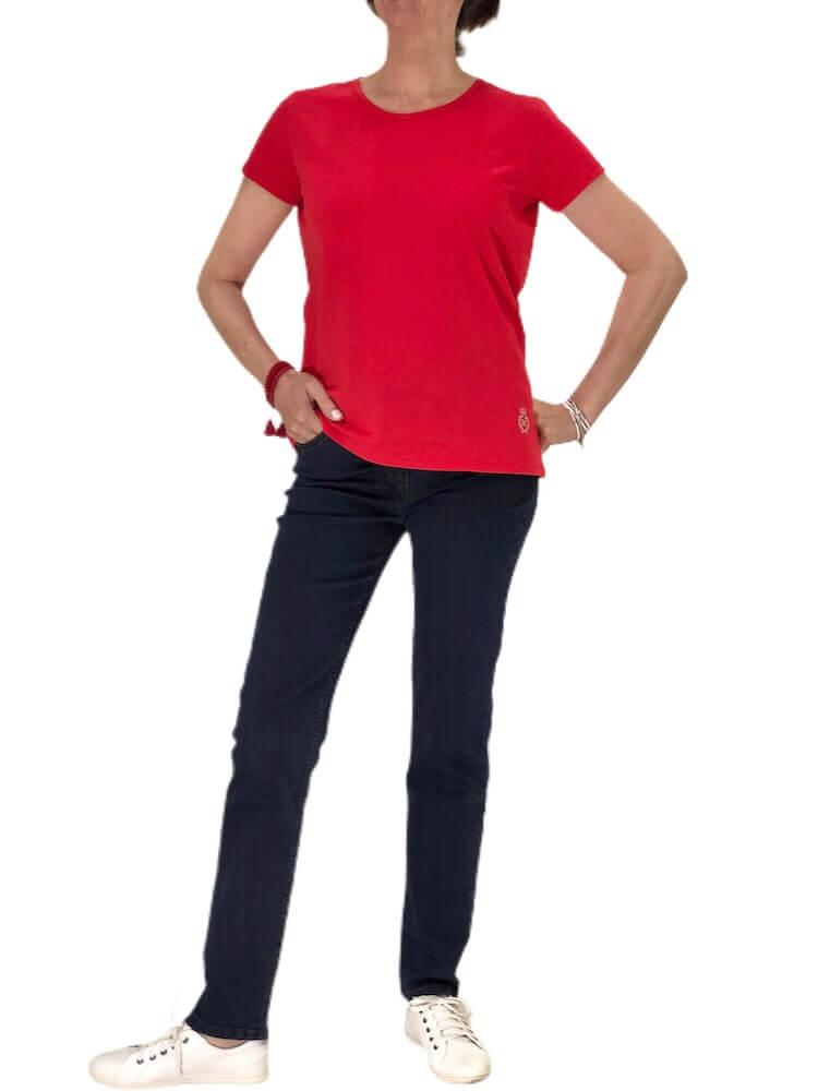 tee shirt uni Femme rouge